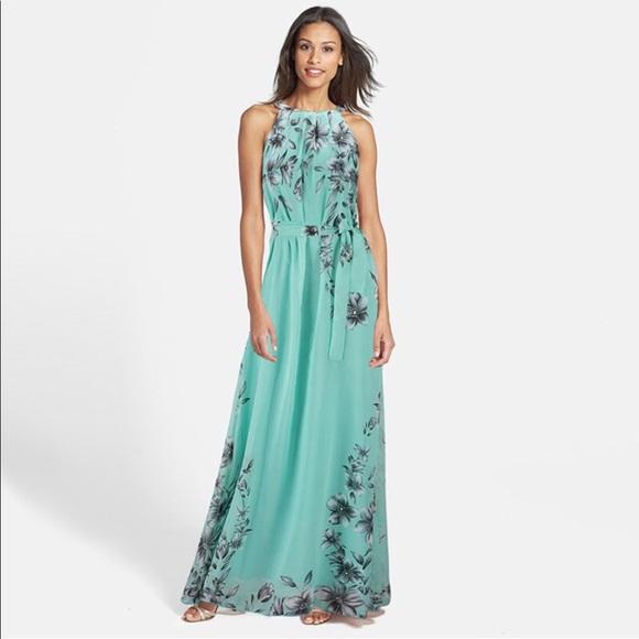 Dresses   Women Long Gown Maxi Gown Tie Front Floral Dress   Poshmark